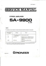Service Manual-Instructions pour pioneer sa-9900