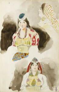 Eugene Delacroix Album de voyage au Maroc Poster Giclee Canvas Print