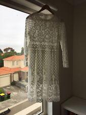 Ladies White Lace Dress Size 12/14