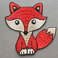 Red Fox Patch Iron On Wild Animal Cute Embroidered Bag Applique Free Shipping