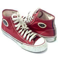 PF Flyers Unisex Red High Top Canvas Sneakers Shoes Sz. 9 M 10.5 (W) US 42.5 EUR