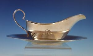 Old French by Gorham Sterling Silver Gravy Boat with Underplate #297 (#2505)