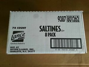 Lance Saltine Crackers 8 pack 78 Count