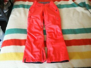BONFIRE Safari Coral Pink 20k Gold Womens Ski Snowboard Winter Pants M Medium