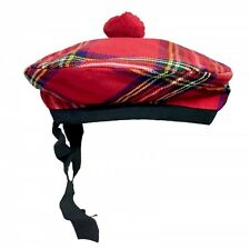 Royal Stewart Balmoral Bonnet Hat Beanie Scottish Highland Wear by Scottish Kilt