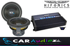 "HIFONICS HIGH QUALITY BASS PACKAGE SINGLE 12"" SUBWOOFER AMPLIFIER CAR AUDIO DEAL"