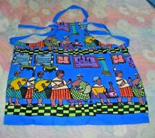 NEW Kitchen Apron, Cape Town South Africa, Hand Woven & Painted