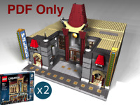 Lego Custom Modular Chinese Theatre Palace10232 Alternate INSTRUCTIONS PDF ONLY