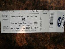 U2 Concert Ticket Stub 2017 Detroit Joshua Tree