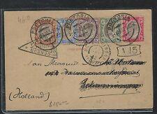 TRANSVAAL (P2408B) KE 5 STAMP BOER WAR CENSOR COVER TO HOLLAND
