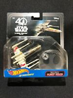 Disney Hot Wheels Starships X-WING FIGHTER RED FIVE Star Wars NIP 40th Anniv