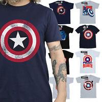 Captain America T-Shirt Mens Official Marvel Merchandise