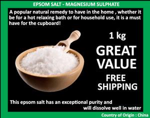 Epsom Salt Magnesium Sulphate 1kg Bath Salt