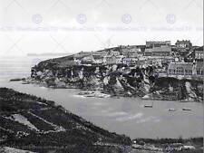 Port isaac looking ne cornwall england old bw photo print poster 1578BWB