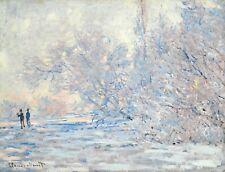 Claude Monet Giverny Winter Fine Art Poster Print on Premium Paper Impressionism