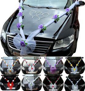 Hochzeit Autodeko Brautauto Autodekoration Hochzeitsauto Autogirlande Schleife