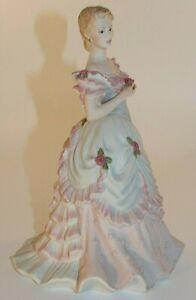 "Coalport 8"" Lady Figurine Age Of Elegance Opening Night 1990's Excellent"