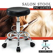 Adjustable Barber Tattoo Salon Stool Hydraulic Rolling Chair Facial Massage Spa