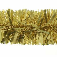 2m (6.5 Ft) Champagne Gold Luxury Thick Tinsel Christmas Tree Decoration garland