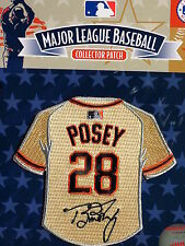 MLB San Francisco Giants Buster Posey Facsimile Autograph Mini-Jersey Patch
