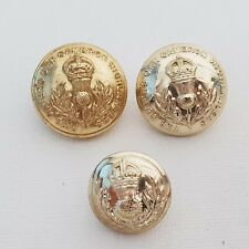 1947-52 Queens Own Cameron highlanders staybrite mixed button set 26-19mm