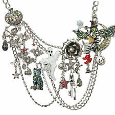KIRKS FOLLY WITCHCRAFT FAIRY HALLOWEEN PARTY NECKLACE silvertone