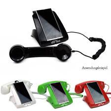 Retro Telefon für Handy Smatphone Telefonhörer Headset Hörer 3,5mm Schwarz