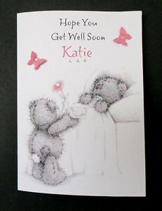 Handmade Personalised Get Well Card