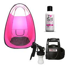 Spray Tanning HVLP Airbrush Kit: Machine, PopUp Tanning Tent + Fake Tan Solution
