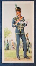 18th HUSSARS  British Cavalry Regiment  1869 Uniform  Superb Vintage Card