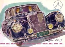 MERCEDES BENZ TYPE 300s VINTAGE ADVERTISING ART PRINT - FREE UK P&P
