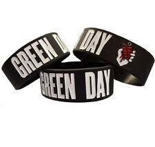 Green Day 25mm Silicon Rubber Wristband
