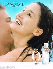 PUBLICITE ADVERTISING 065  2000  LANCOME  parfum femme O MARIE GILLAIN