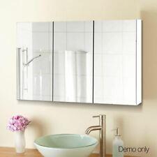 White Bathroom Vanity Mirror Storage Cabinet Medicine Shaving Cupboard Wall