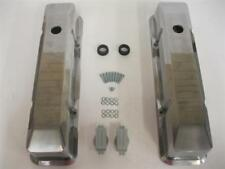 Small Block Chevy Tall Smooth Polished Aluminum Valve Covers Sbc 305 350 Vintage