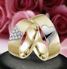 2 Echt Silber 925 Trauringe Eheringe Verlobungsringe , Gravur Gratis , J339-GW