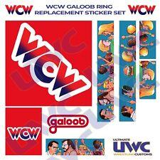 WCW WWF Galoob Ring Custom/Replacement Sticker Set