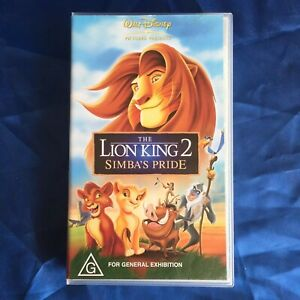 The Lion King 2 Simba's Pride - PAL VHS Video Tape WALT DISNEY Pictures Presents