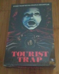 "Tourist Trap ""Vintage VHS"" Collector's Box Series Blu-ray/DVD & Mr. Slausen Fig"