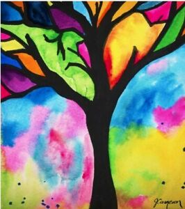 Micro Puzzles Stained Glass Tree 150 pc Micro Jigsaw Puzzle Test Tube Puzzle