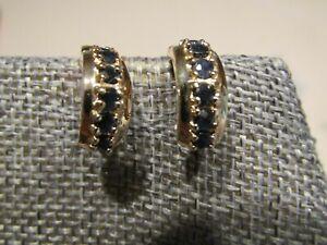 Sterling Silver Sapphire Gold Vermeil Hoop Earrings Ross Simons