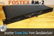 Fostex RM-2 Stereo Rack Monitor w/ RM Kit, Power Cable - Tested and Works Great!