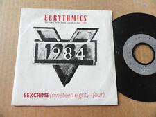 "DISQUE 45T DE EURYTHMICS  "" SEXCRIME """
