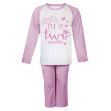 Personalised When I Wake 2 Pyjamas Birthday Children's Pjs Birthday Gifts