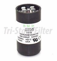 Motor Start Capacitor 200-240 MFD 110-125VAC MARS 11016
