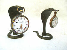 PAIRE SERPENTS Cobra_PORTE Montre GOUSSET_ Snake Pocket watch stand holder -