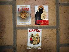 lot de 3 magnets émaillés Publicitaires émail véritable Neufs Fabr. en France S3