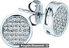 diamond round studs screwback earrings .10 carats men ladies teen ice out 925