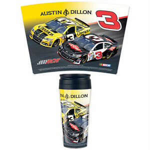 AUSTIN DILLON #3 DOW &CHEERIOS RACING NASCAR CONTOUR 16oz TRAVEL MUG HOT& COLD