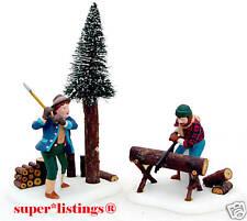 Dept. 56 Lumberjacks Set of 2 Retired New England 56590